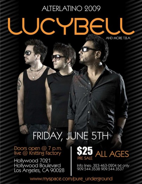lucibell live at the knitting factory in Hollywood