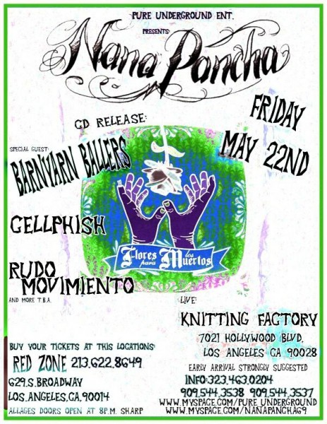 nanapancha at knitting factory flyer