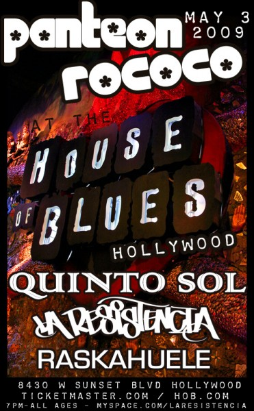 Panteon Rococo live at the House of Blues Hollywood May 3 2009
