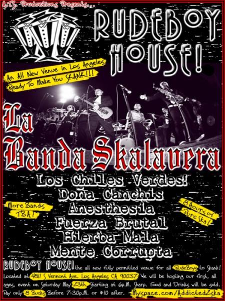 Rude Boy House. Ska in Los Angeles May 23rd 2009