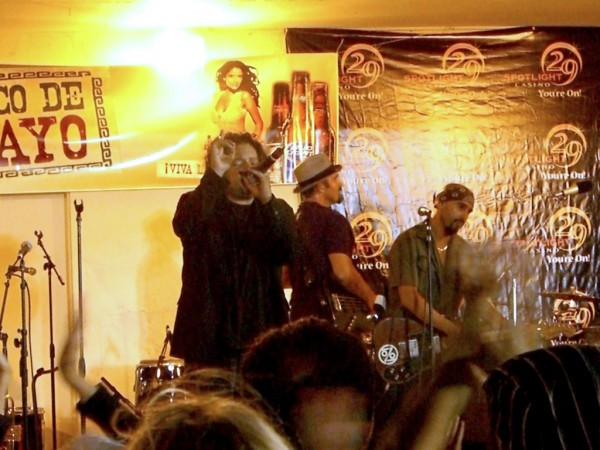 Ozomatli performs their latin world music at city of Indio