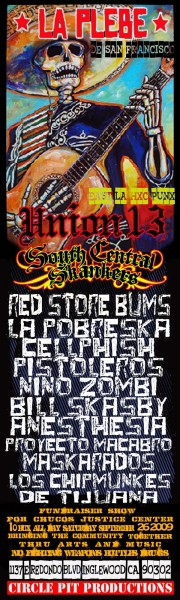 la plebe, union 13, south central skankers, red store bums, more ska bands